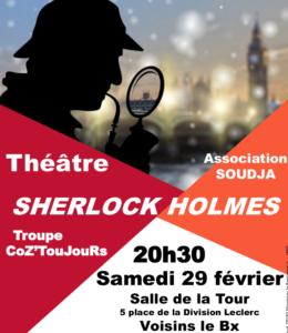 Sherlock Holmes, théatre à Voisins